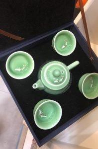 Celadon Tea Set (Fish)
