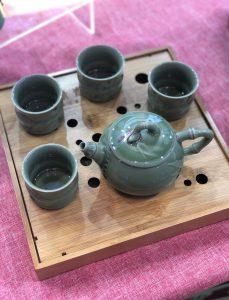 Celadon Tea Set (Bamboo)
